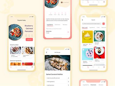 bakeando yummy recipe app design mobile food app ui  ux user experience user interface mobile ui mobile app design mobile design mobile app app app design