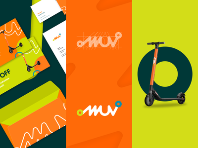 MMUV colorful design corporate identity brand identity vector rebrand innovation mobility escooter micromobility design branding graphic design branding design rebranding