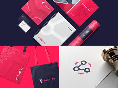 Hudday inspiration colorful brand branding colorful graphic design social media stationery marketing materials brand identity branding design brand design