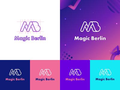 Magic Berlin colorful logo typo graphicdesign brand design brand identity design illustrator flat vector graphic design logos corporate identity logotype logo design logo