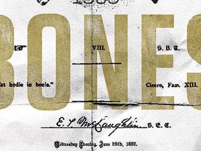 Skull & Bones typography graphic design design lithography printmaking