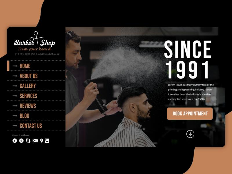 Barber shop website Design
