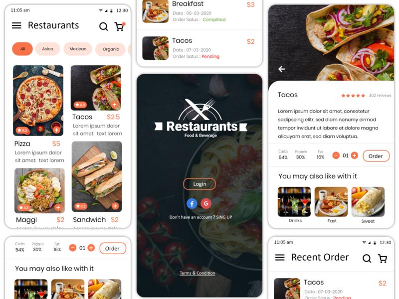 Restaurants App UI Design