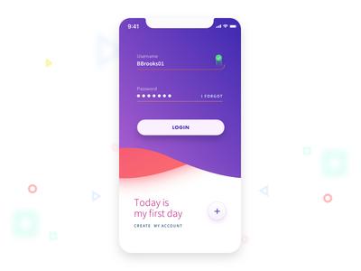 Fun with UI app register login mobile design uichallenge daily ui