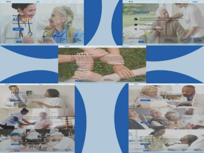 Alz med, an Alzheimer's clinic UI web design