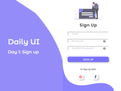 Daily Challenge....Day 1: sign up screen