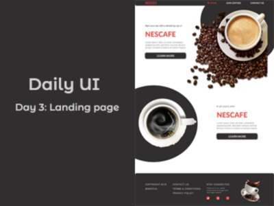 Daily Challenge...Day 3: Landing page