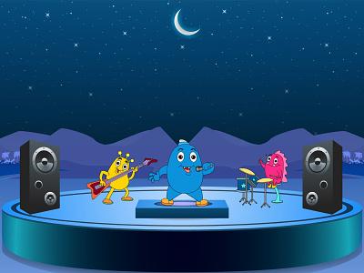 Music Song Illustration poster design vector illustration