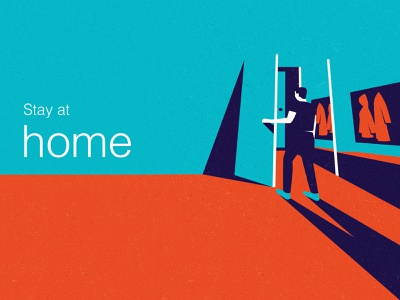 Stay at home colorful covid19 stayhome vector illustration