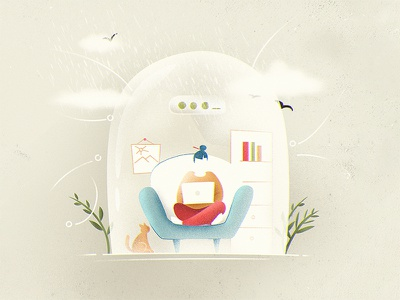 Secure Space sofa comfy dome craft illustration secure