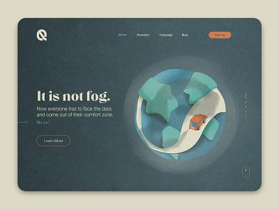 Not Fog air globe car web illustration environment fog earth polution ui illustration