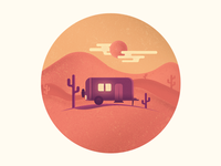 Travellers icon living wagon desert home travellers
