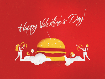 Mc Valentine balloons arrows burger mcdonalds valentines