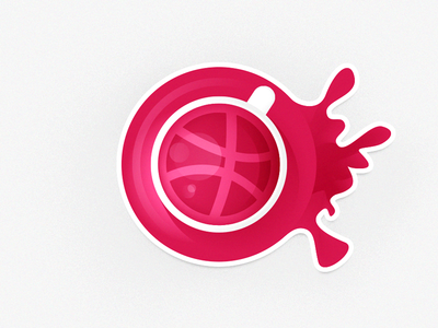 A cup of dribbble new day morning sun coffee cup sticker dribbble