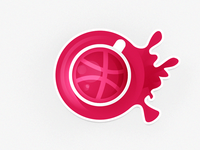 A cup of dribbble