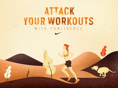 Nike Motion Adapt texture runner run vector workout nike illustration
