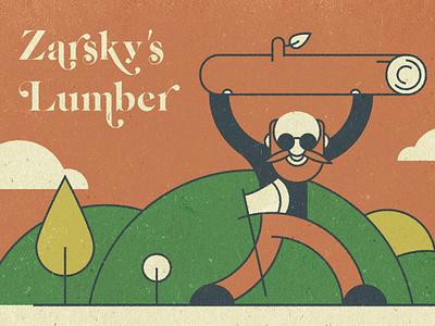 Lumber 2 craft paper landscape forest wood lumberjack illustration
