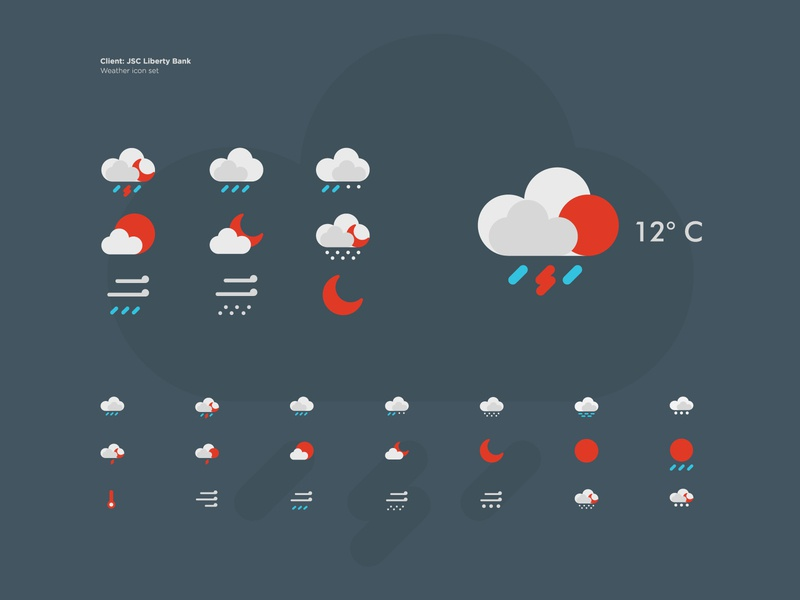 Weather icons windy moon mist rain icon clouds icons icons pack illustraion iconset icon set forecast weather