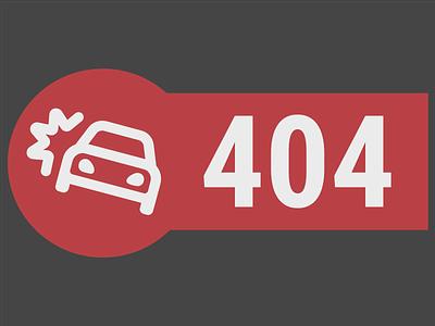 404 Not Found vector website flat typography design