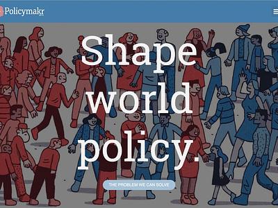 policymakr.com website ui ux web illustration branding design