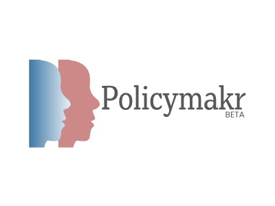 Policymakr Beta Logo typography branding design icon