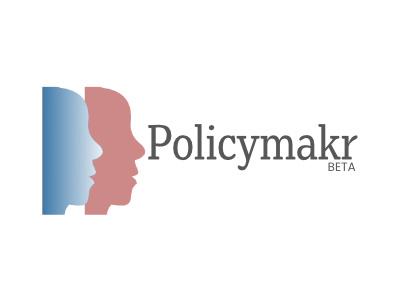 Policymakr Beta Logo typography branding design icon