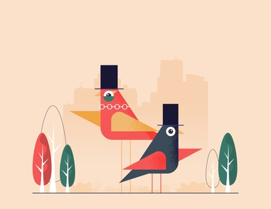 Funny birds in the city