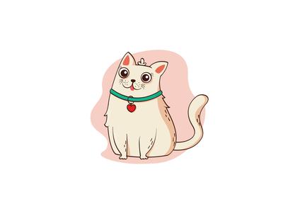Cute cat. Kitten in flat style