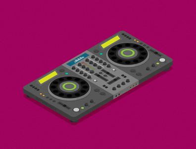 DJ remote flat vector