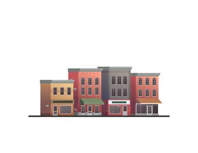 Downtown vector buildings
