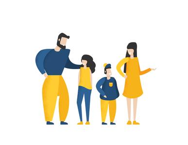 Flat family illustration