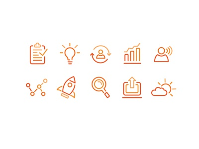 Business Icons icon set vector colorful ui
