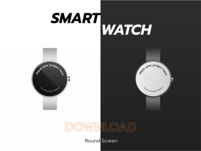 Smart Watch: Round Screen Mockup