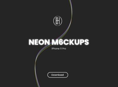 Neon M6ckups