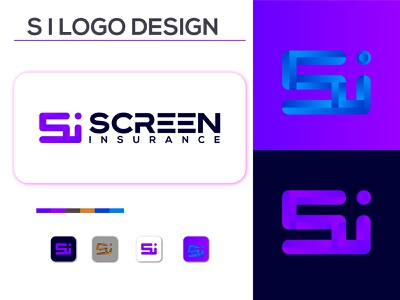 Si letter logo design site symbol vector design logo colorful logo design icon logodesign letter fresh flat