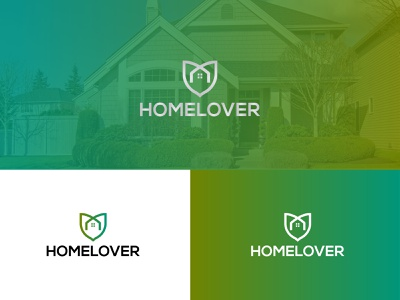HOMELOVER Logo Design abstract logo modern logo real estate modern logo agency logo house logo house fresh house greenhouse green logo gredient colorful lovehome homelove freshlover lover hotel logo real estate agent real estate logo home homelover
