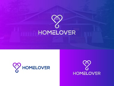 Rebranding | HOMELOVER LOGO | REAL ESTATE LOGO company logo web logo branding logo real estate logos lettering logo iconic logo icon with logo logo with text combination logo heart lover typography colorful gredient illustrator agency realestate real estate logo