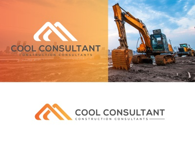 Excavator logo |  Consultant company logo design branding carry tool technology traffic cone vehicle web truck drill flatdesign construction website logodesign illustration services working heavy industry construction company logo design consultant logo