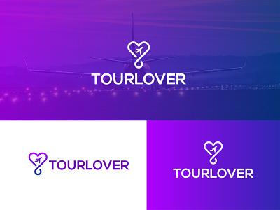 Tourlover    Traveler minimal Logo Design   tour2021 tour2021 tourlife tournament tourist tourism branding illustration gredient icon vector fresh colorful logo design concept minimal logo logo designer travel lover tourlover logo design
