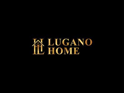 LUGANO HOME   LUXURY HOME   ELEGANT HOME   Real Estate customtype luganohome luganohome building website agency branding design realtor logo realestate properties golden logo elegant design home