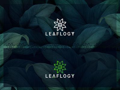 leaflogy Logo Design leaflogy leafs green logo nature logo ui ux gredient icon vector fresh branding design branding illustration leaf start badge symbol identity mark logo