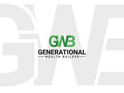 Generational Wealth Builder logo logo mark typogaphy unique modern gwb graphicdesign flat minimal illustration logo app vector ui ux branding icon gredient