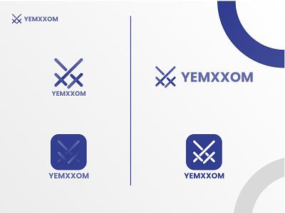 Yemxxom apps logo fresh logo mark letter mark logo art digital art clean illustrator blue agency adobe apps icon yx logo gredient branding logo motion graphics graphic design 3d animation