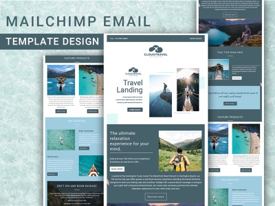 Travel agency MailChimp Email Template Design newsletter mailchimp best 2021 best template 2021 agency email traveler agency branding motion graphics ui ux web design simple email template picnic tour tour lover travel agency agency travel