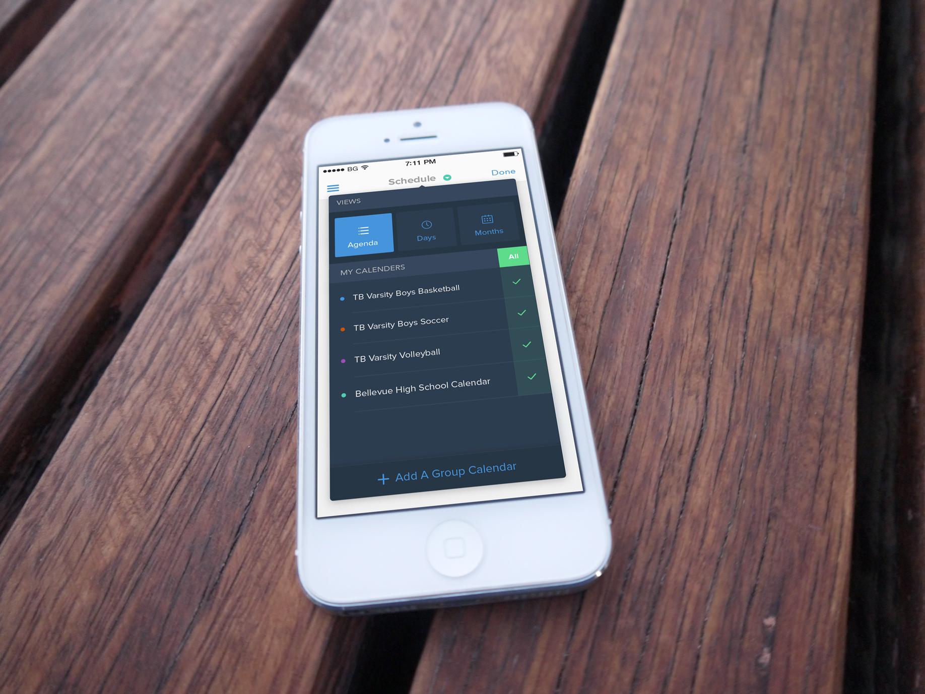 Tandem mobile menu full