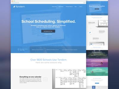 Tandem Website marketing product responsive web website tandem