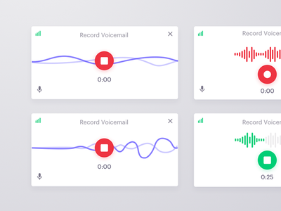 Voicemail recorder outreach. call interaction ux ui recorder voice
