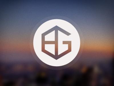 booma group logo icon hexagon soft focus brand minimal bg circle identity initials clean