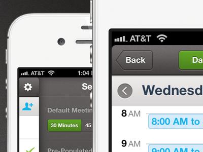 Scheduler App UI scheduler ui iphone ios mobile clean schedule app minimal detail buttons icons