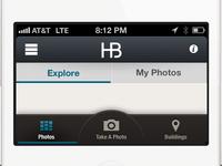 HB nav & tab bar UI
